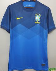 2020 Brazil Away 1:1 Blue Fans Soccer Jersey