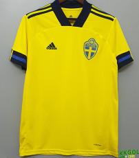 2020 Sweden 1:1 Home Soccer Jersey