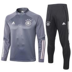 2020 Germany Dark Grey Half Pull Sweater Tracksuit