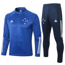 2020 Cruzeiro Ink Blue Half Pull Sweater Tracksuit