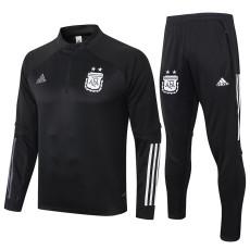 2020 Argentina Black Half Pull Sweater Tracksuit