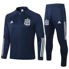 2020 Spain Blue Jacket Tracksuit