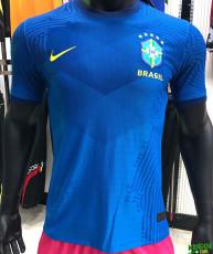 2020 Brazil Away Player Version Soccer Jersey
