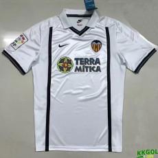 2000-2001 Valencia Home  Retro Soccer Jersey