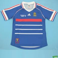 1998 France Home Blue Retro Soccer Jersey