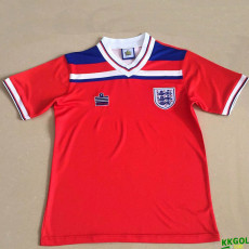 1980 England Away Red Retro Soccer Jersey