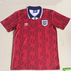 1994 England Away Red Retro Soccer Jersey