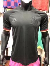 2020 Germany Away Black Player Version Soccer Jersey