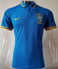 20-21 Brazil Away Blue Polo Short Jersey