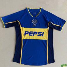 2002 Boca Juniors Home Retro Soccer Jersey
