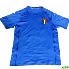 2000 Italy Home Blue Retro Soccer Jersey