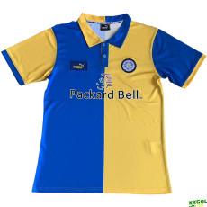 1997-1998 Leeds United Away Retro yellow Soccer Jersey