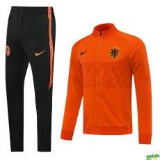 20-21 Netherlands Orange Jacket Tracksuit