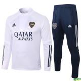 20-21 Boca Juniors White Half Pull Sweater Tracksuit