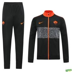20-21 Roma Black Jacket Tracksuit