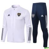 20-21 Boca Juniors White Jacket Tracksuit
