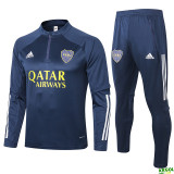 20-21 Boca Juniors Blue Half Pull Sweater Tracksuit