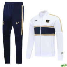 20-21 Pumas UNAM  White Jacket Tracksuit