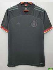 2020 Germany Away 1:1 Black Fans Soccer Jersey