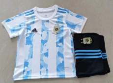 20-21 Argentina Home Kids Soccer Jersey