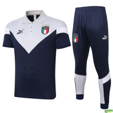 2020 Italy White Polo Tracksuit