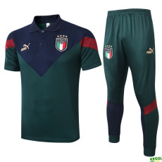 2020 Italy Green Polo Tracksuit