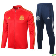 2020 Spain Red Jacket Tracksuit