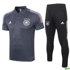 2020 Germany  Dark Grey Polo Tracksuit