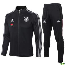 2020 Germany Black Jacket Tracksuit