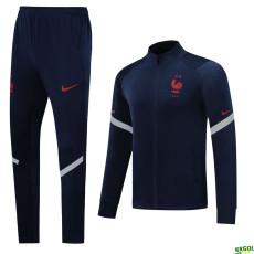 20-21 France Blue Jacket Tracksuit