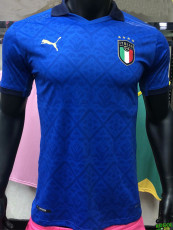 2020 Italy Home Blue Player Version Soccer Jersey