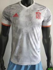 2020 Spain Away Player Version Soccer Jersey