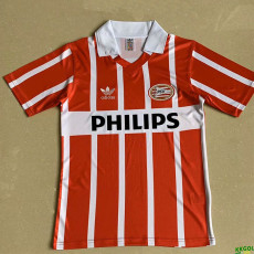 1990 PSV Home Retro Red Soccer Jersey
