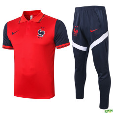 20-21 France Red Polo Tracksuit