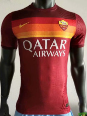 20-21 Roma Home Player Version Soccer Jersey