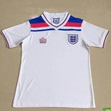 1980 England Home White Retro Soccer Jersey