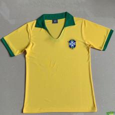 1957 Brazil Home Retro Soccer Jersey