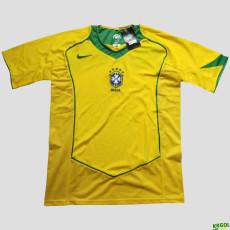 2004 Brazil Home Retro Soccer Jersey