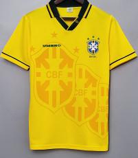1993-1994 Brazil Home Yellow Retro Soccer Jersey