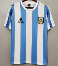 1986 Argentina Home Retro Soccer Jersey