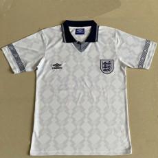 1990 England Home Retro Soccer Jersey