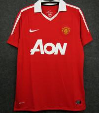 2010-2011 Man Utd Home Retro Soccer Jersey