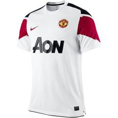 2010-2011 Man Utd Away White Retro Soccer Jersey