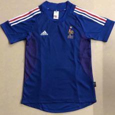2002 France Home Retro Soccer Jersey