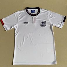 1988 England Home Retro Soccer Jersey
