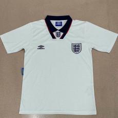 1994 England Home Retro Soccer Jersey