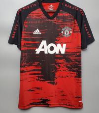 20-21 Man Utd Red And Black Training shirts