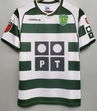 2001-2002 Sporting Lisbon Home Retro Soccer Jersey