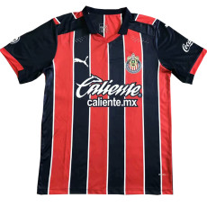20-21 Chivas Away Red And Blue Fans Soccer Jersey