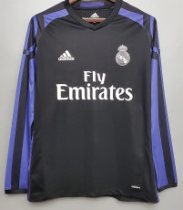 2016-2017 RMA away Black Sleeve Retro Soccer Jersey